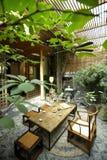 Chinesisch-Art Gaststättehof Lizenzfreies Stockbild