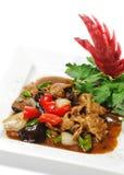 Chinesisch - Fleisch mit schwarzem Pilz lizenzfreie stockfotografie