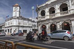 Chinesisch-portugiesische Architektur beeinflußte Gebäude I Lizenzfreie Stockbilder