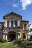 Chinesisch-portugiesische Architektur beeinflußte Gebäude in Phuket Lizenzfreie Stockfotografie