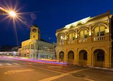 Chinesisch-portugiesische Art Phuket-Stadt Lizenzfreie Stockfotos