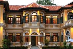 Chinesisch-portugiesische Gebäude Lizenzfreies Stockbild