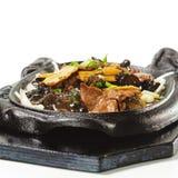 Chinesisch - Rindfleisch mit Spargel stockbild