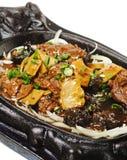 Chinesisch - Rindfleisch mit Spargel lizenzfreie stockfotos