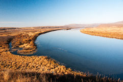 Chinesisch-russischer Grenzfluss Stockfoto
