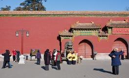 Chinesische ältere Übung Lizenzfreie Stockfotos