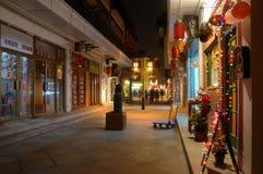 Chinesische alte Stadtstraße stockfoto
