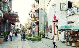 Chinesische alte Stadtstraßenansicht, chinesische traditionelle Stadt in der klassischen Art in China Lizenzfreies Stockfoto