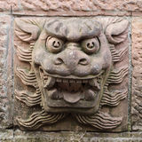 Chinesische alte Statue Stockbild