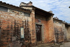 Chinesische alte Volkshäuser in der Landschaft Stockfoto