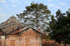 Chinesische alte Volkshäuser in der Landschaft Stockbild