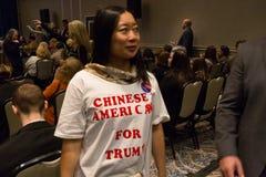 Chinesische Amerikaner für Trumpf Lizenzfreie Stockbilder