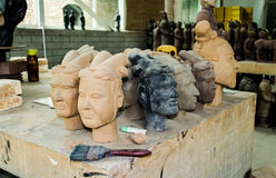 Chinesische archäologische Werkstatt lizenzfreies stockbild