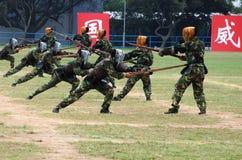Chinesische Armee in Hong Kong-Garnison Lizenzfreie Stockbilder