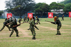 Chinesische Armee in Hong Kong-Garnison Lizenzfreie Stockfotografie