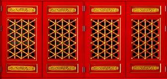 Chinesische Art des rechteckigen Fensters Stockfoto