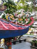 Chinesische Art des Stuckdachs Stockbilder