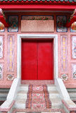 Chinesische Art des Tür-Tempels Stockbilder