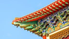 Chinesische Art des traditionellen Dachs lizenzfreie stockbilder
