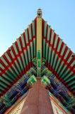 Chinesische Art des traditionellen Dachs stockfoto