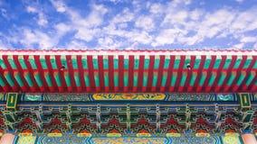 Chinesische Art des traditionellen Dachs lizenzfreies stockfoto