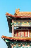 Chinesische Art des traditionellen Dachs stockbilder