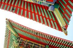 Chinesische Art des traditionellen Dachs stockfotografie