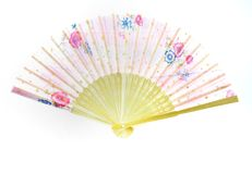 Chinesische Art-faltender Fan Stockfotografie