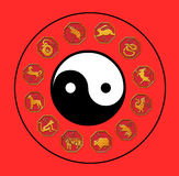 Chinesische Astrologie stock abbildung