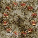 Chinesische Astrologiesternzeichen wie geheimes Konzept des Porzellans stockbild
