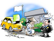 Chinesische Autoimporte Lizenzfreies Stockfoto