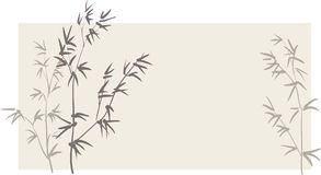 Chinesische Bambuszweige Stockbild