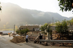 Chinesische Bauarbeiter Stockbild