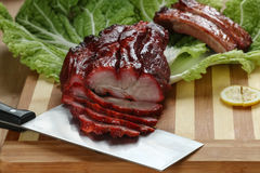 Chinesische BBQ-Schweinebratenscheibe Stockfoto