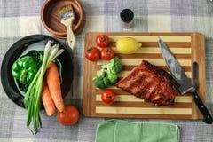 Chinesische BBQ-Schweinsrippchen Lizenzfreies Stockfoto