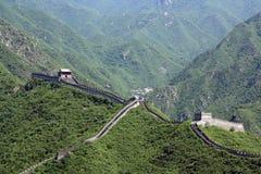 Chinesische Chinesische Mauer bei Juyongguan Stockbilder