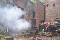 Chinesische Damenlandlebenart stockbilder