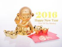 Chinesische Dekoration des neuen Jahres: goldener Affe Stockbild
