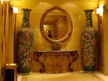Chinesische Dekoration in einem Nizza Hotel stockfotos