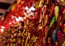 Chinesische Dekorationen der roten Pfeffer Stockbilder