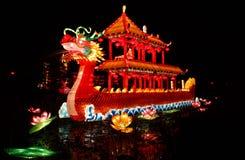 Chinesische Drachelaterne Show stockbild