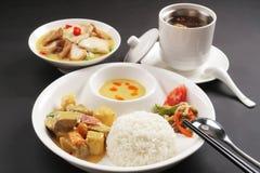 Chinesische einfache Mahlzeit Stockbilder