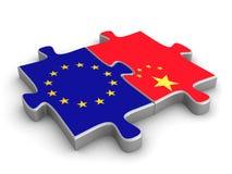 Chinesische europäische Mitarbeit Lizenzfreie Stockbilder