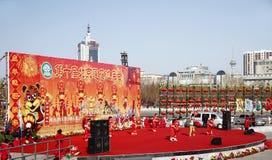 Chinesische Feier 2010 des neuen Jahres Stockbild