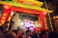 Chinesische Feier des neuen Jahres bei Kolkata Stockfotografie