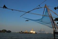 Chinesische Fischernetze Stockfotos