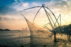 Chinesische Fischernetze Stockbilder