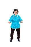 Chinesische Frau führt Tai-Chi durch Stockbilder