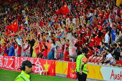 Chinesische Fußball-Anhänger Lizenzfreie Stockfotografie