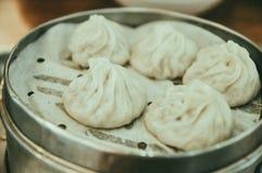 Chinesische gedämpfte Brötchen, Baozi stockbild